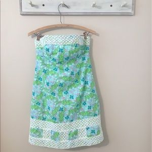 Lily Pulitzer Strapless Alligator Dress